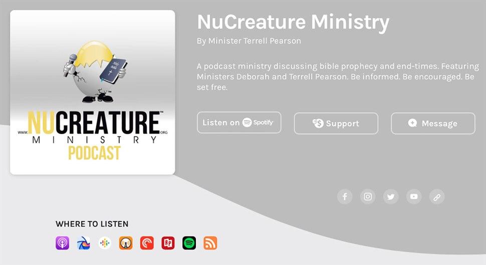 NuCreature Ministry Anchor Screenshot